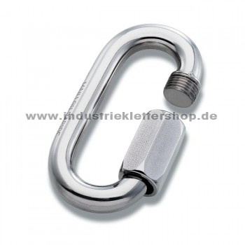 Oval - 12mm - Stahl - silber
