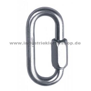 Mini oval - 6mm - silber