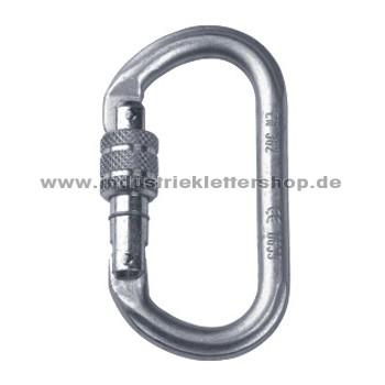 Ovalkarabiner - Stahl - Schraubkarabiner