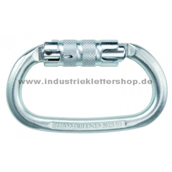 Steel Oval - Twistlock -Stahl - 2-Wege Karabiner