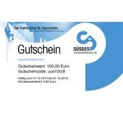 Geschenkgutschein - 100 € - incl. Materialkarabiner