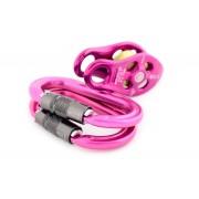 Set Pinto Pulley + Ultra O Locksafe Karabiner - pink - Brustkrebs