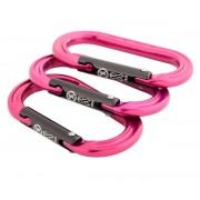 XSRE Karabiner - 3er Set - pink - Brustkrebs